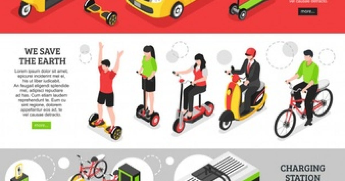 eco-transport-horizontal-banners-with-city-personal-vehicles-charging-station-electric-cars-isometric_1284-26761