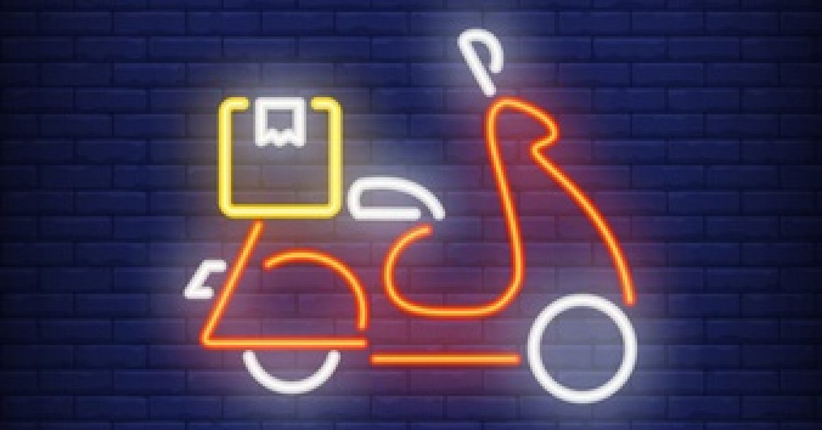 side-view-scooter-brick-background-neon-style_1262-13614
