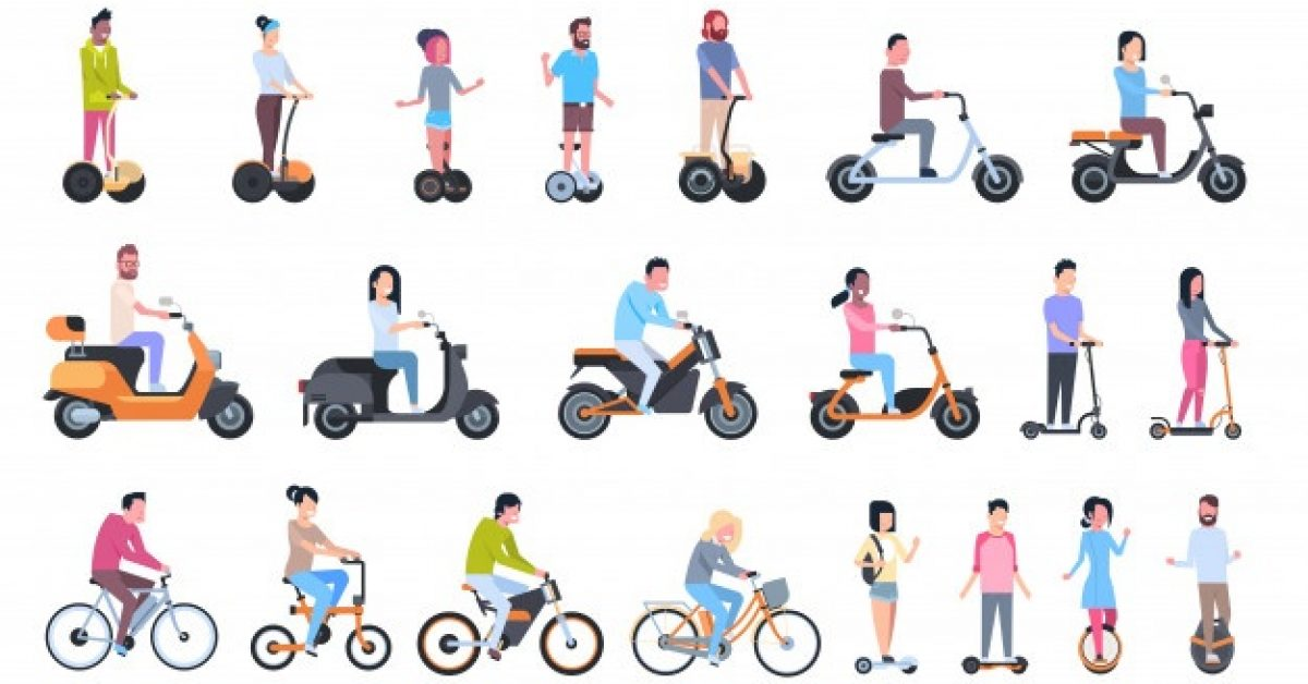 young-people-riding-modern-eco-transport-electric-bikes-scooters-monowheels-gyroscooters_48369-18320